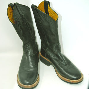 NOCONA Men's Black Leather Western Style Boots